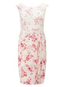 Jacques Vert Petite Flower And Lace Dress