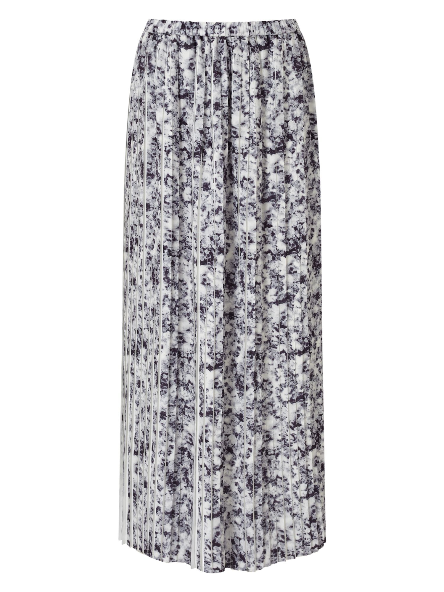 Jacques Vert Printed Plisse Contrast Skirt, Multi-Coloured