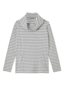 Dash Double Stripe Cowl Top