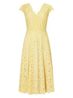 Lace Godet Dress