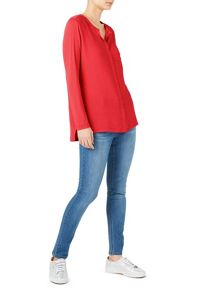 Dash Woven Mix Jersey Top