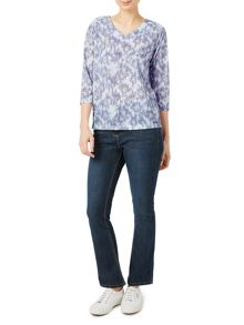 Dash Petalled Bloom Jersey Top