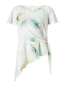 Jacques Vert Printed Soft Tie Top