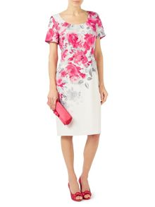 Jacques Vert Rose Print Shift Dress