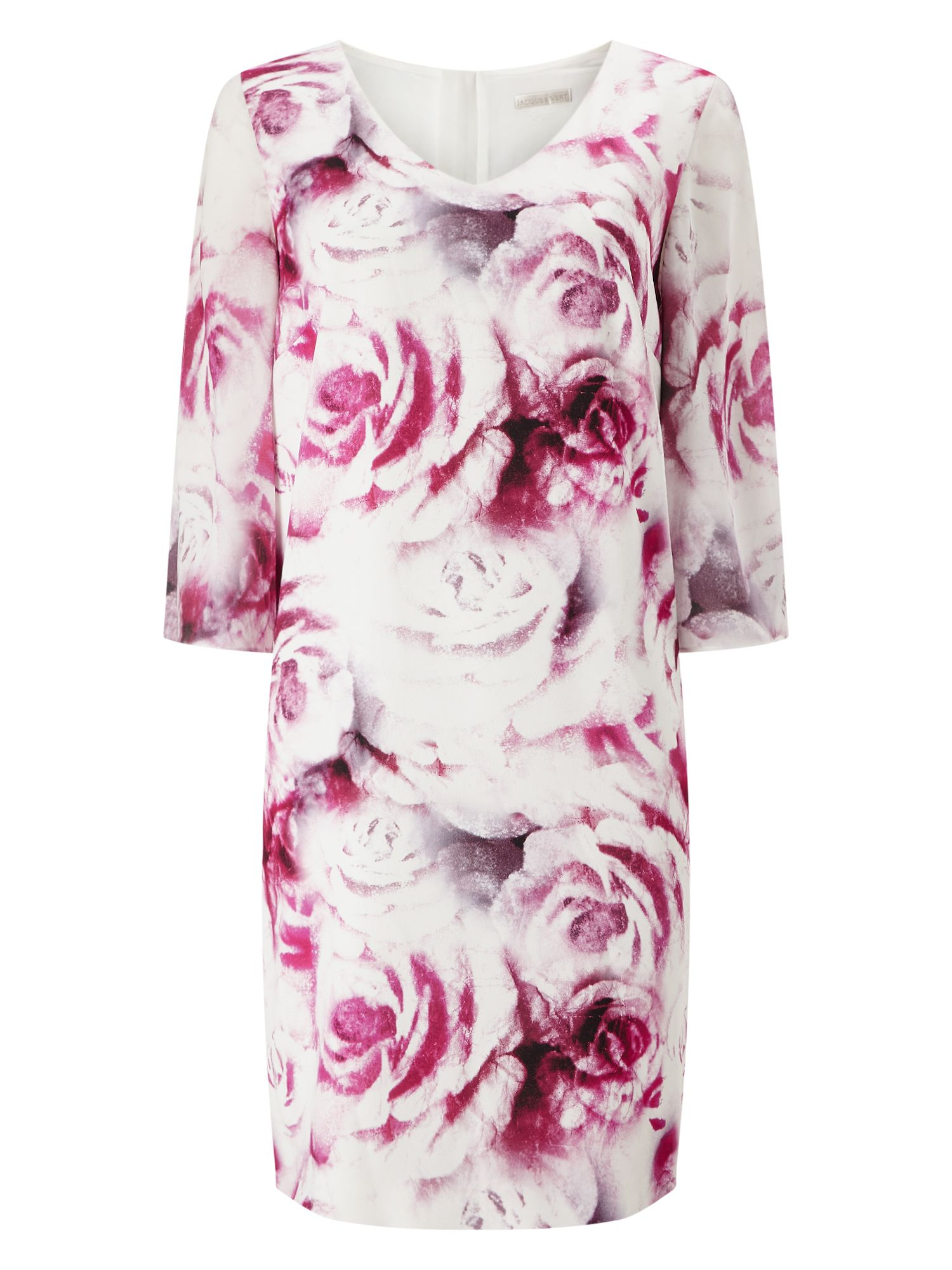Jacques Vert Rose Print Tunic, Multi-Coloured