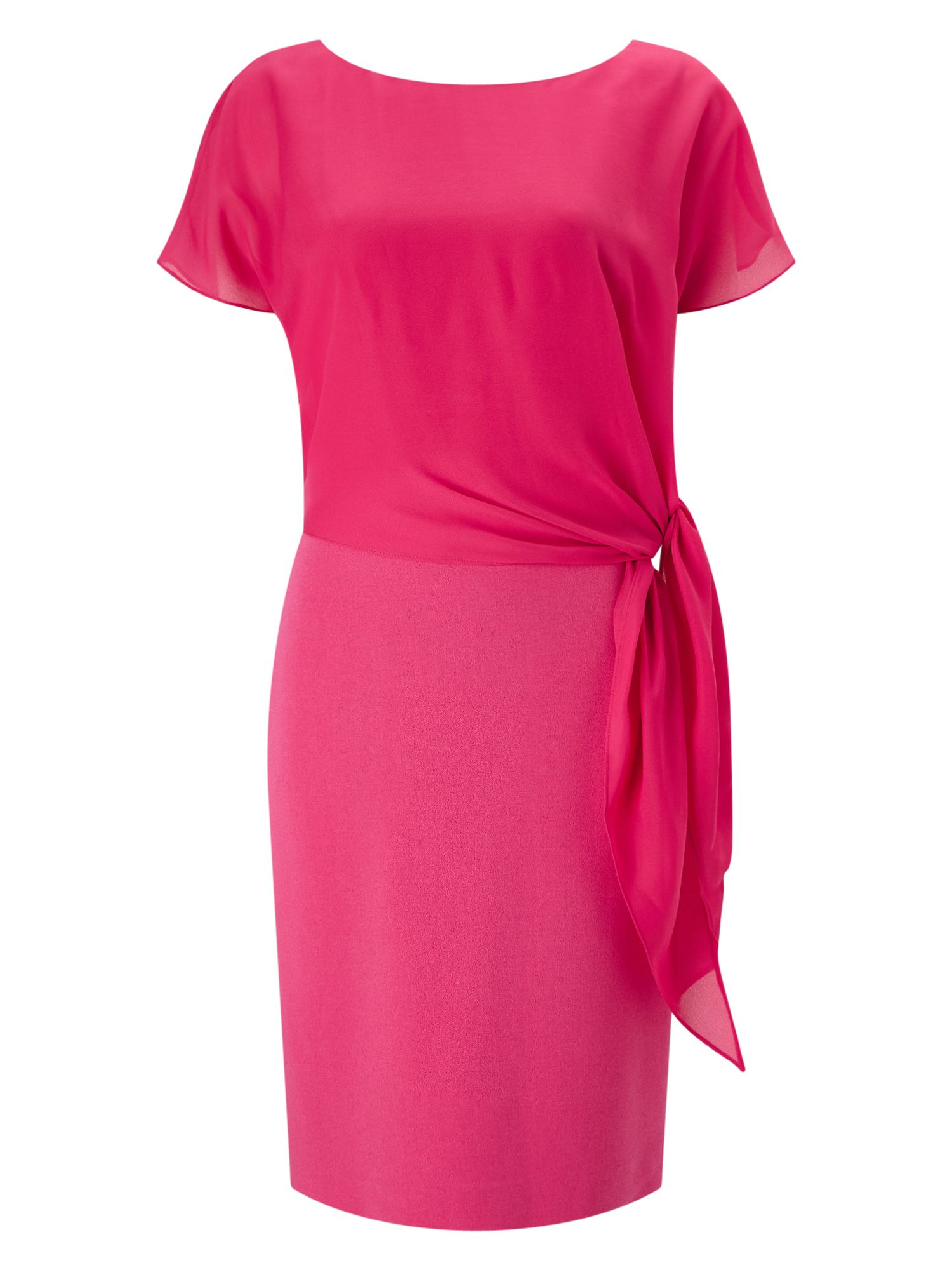 Jacques Vert Crepe And Chiffon Dress, Pink
