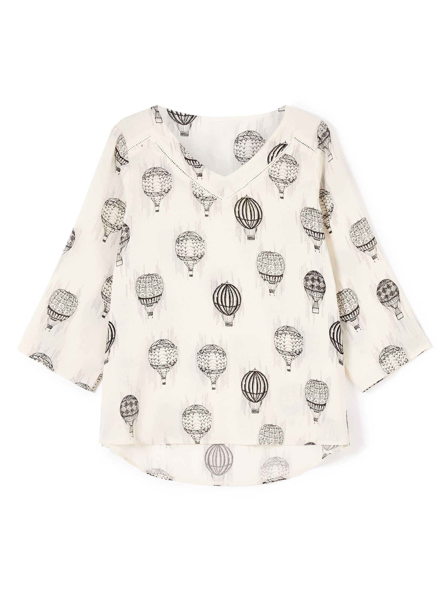 Dash Hot Air Balloon Woven Top, Multi-Coloured