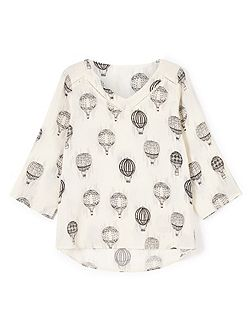 Hot Air Balloon Woven Top