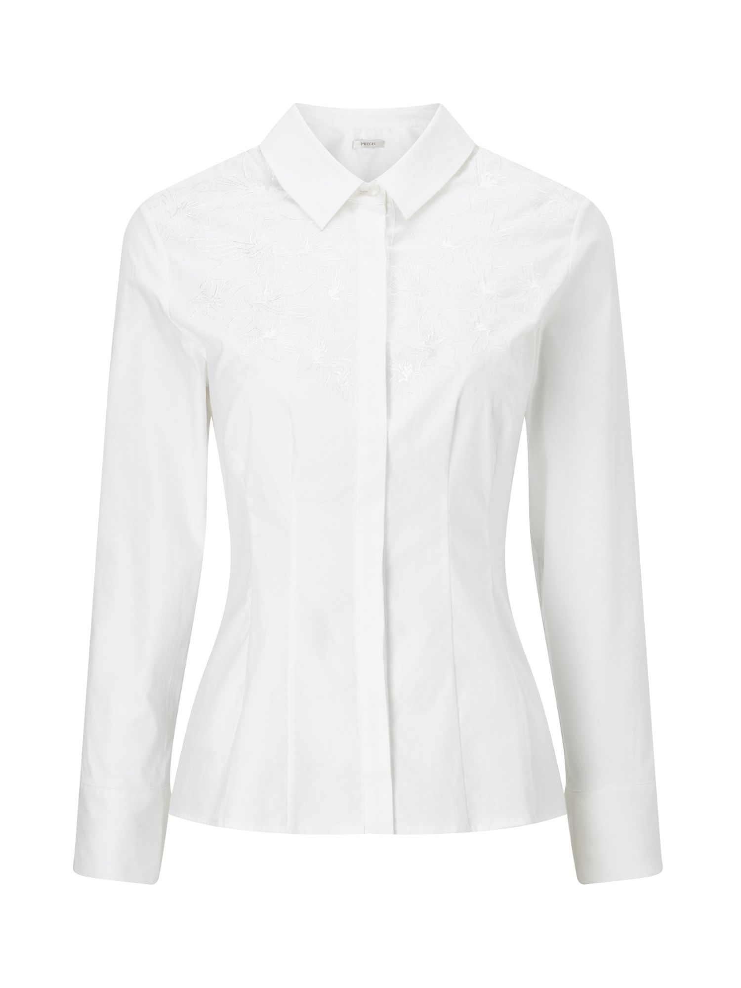 Precis Petite Petite Katy Embroidered Shirt, White