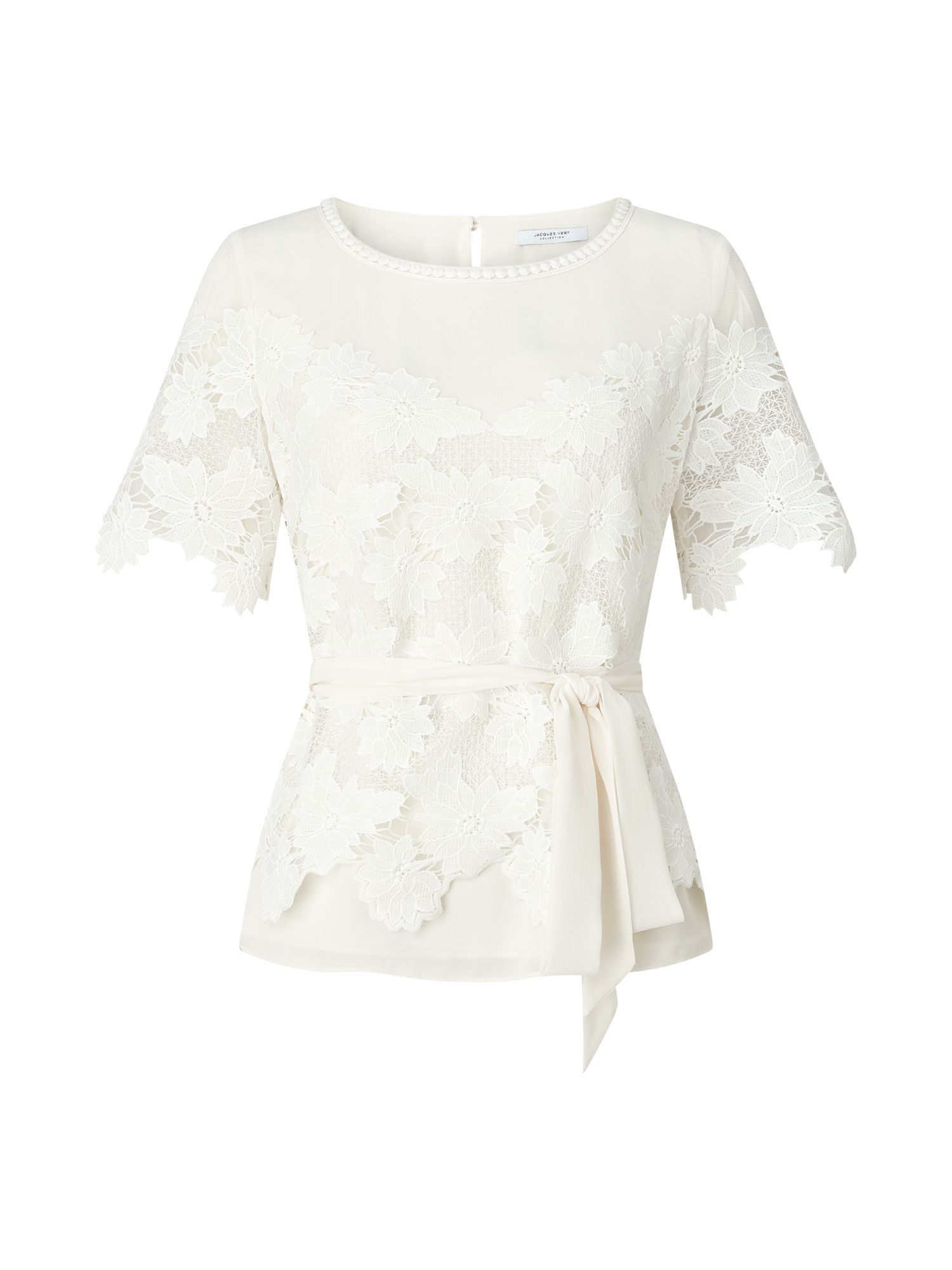 Jacques Vert Lovely Lace Top, Neutral
