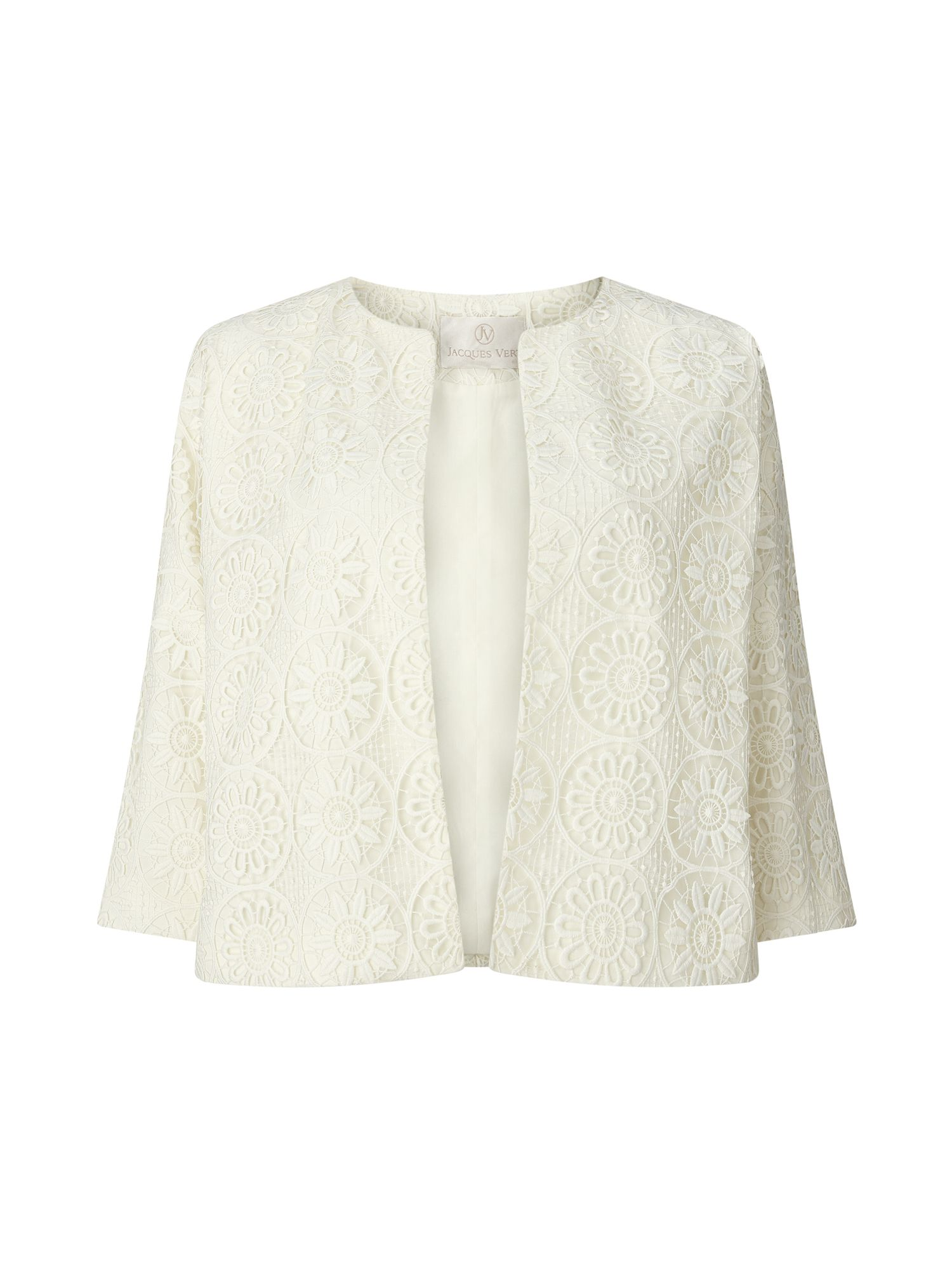 Jacques Vert Lace Jacket, Neutral