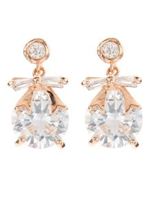 Jacques Vert Bow Stone Earrings