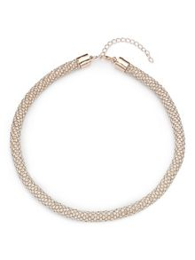 Jacques Vert Diamante Rope Effect Necklace