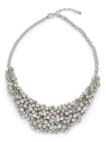 Jacques Vert Diamante Cluster Necklace