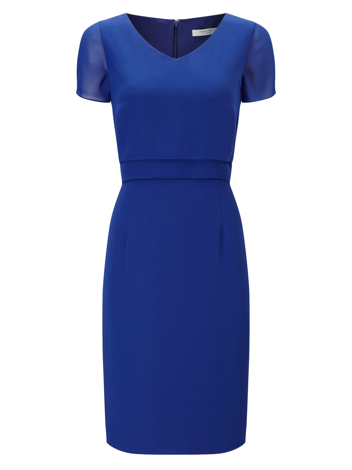 Jacques Vert Soft Layers Dress, Blue