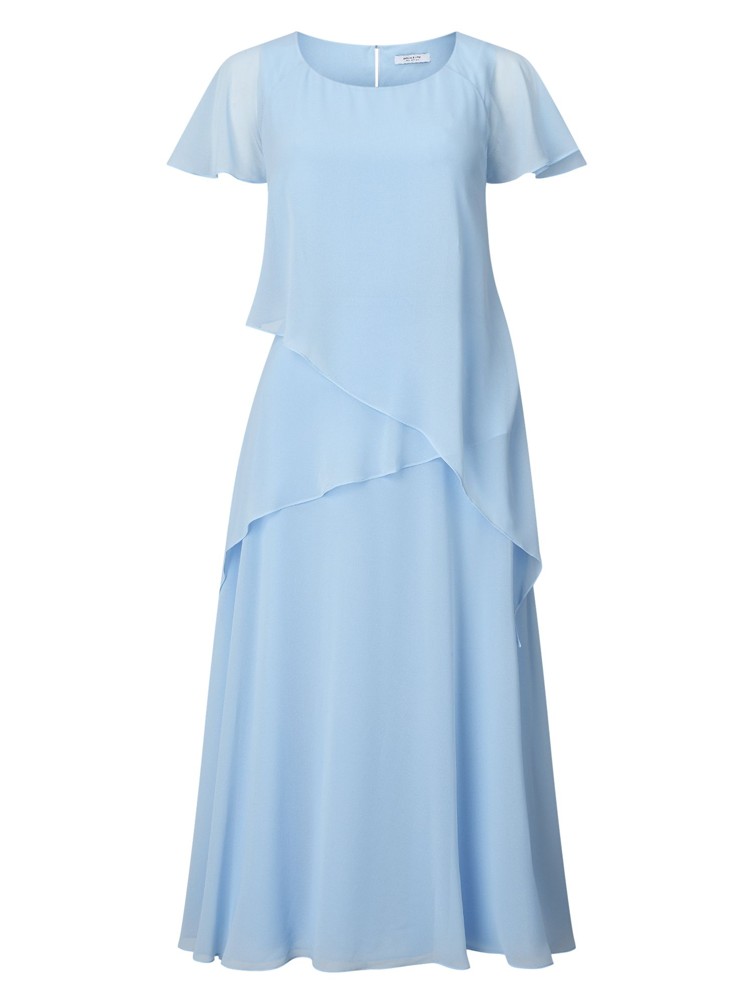 Jacques Vert Soft Tie Detail Dress, Blue