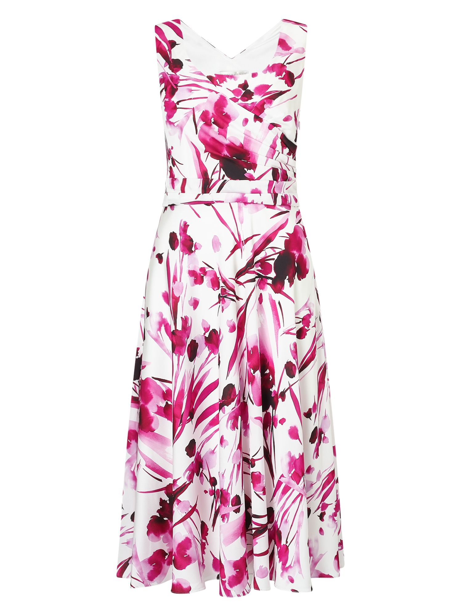 Jacques Vert Soft Print Dress, Pink