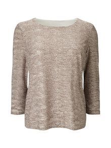 Eastex Mixed Texture Jersey Top