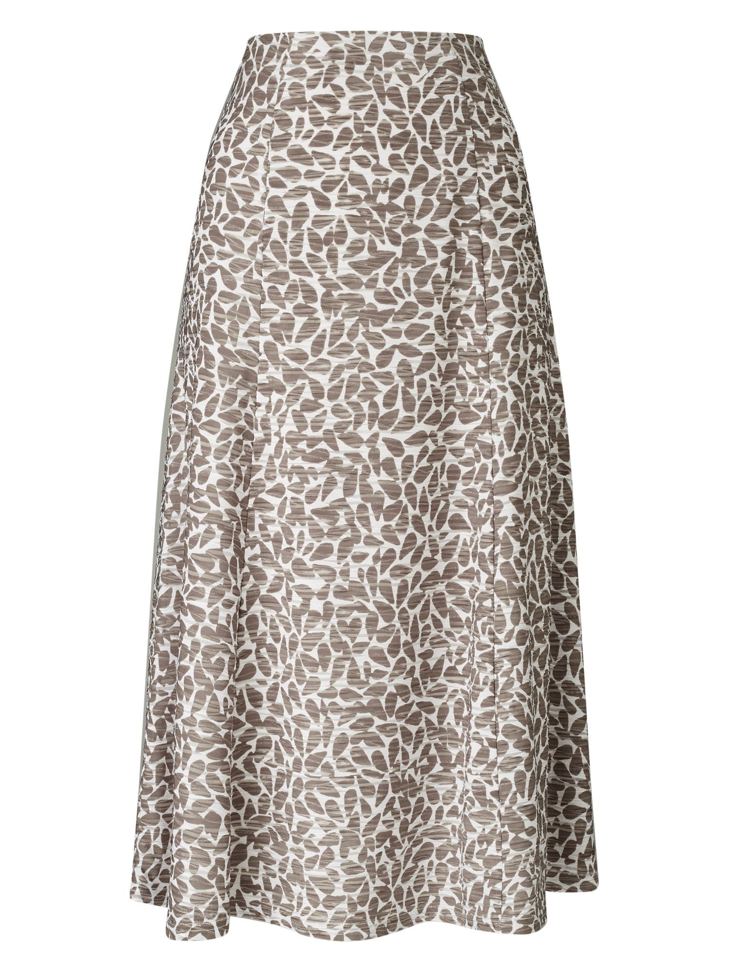 Eastex Pebble Texture Jersey Skirt, Multi-Coloured