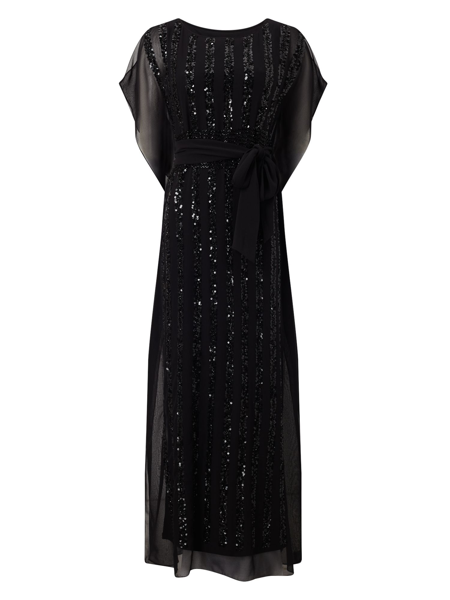 Jacques Vert Jvs Sequin Column Maxi Dress, Black