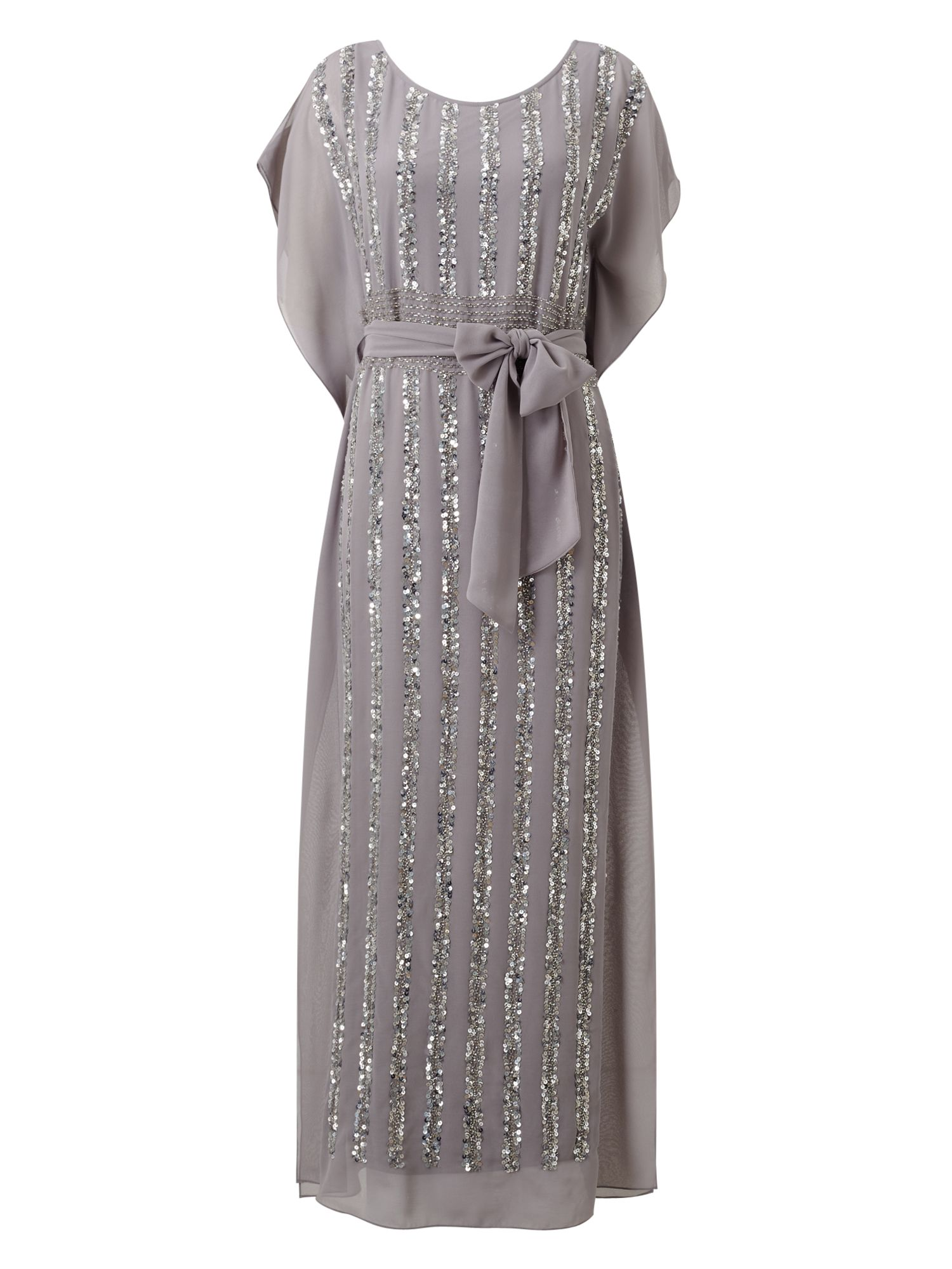 Jacques Vert Jvs Sequin Column Maxi Dress, Grey