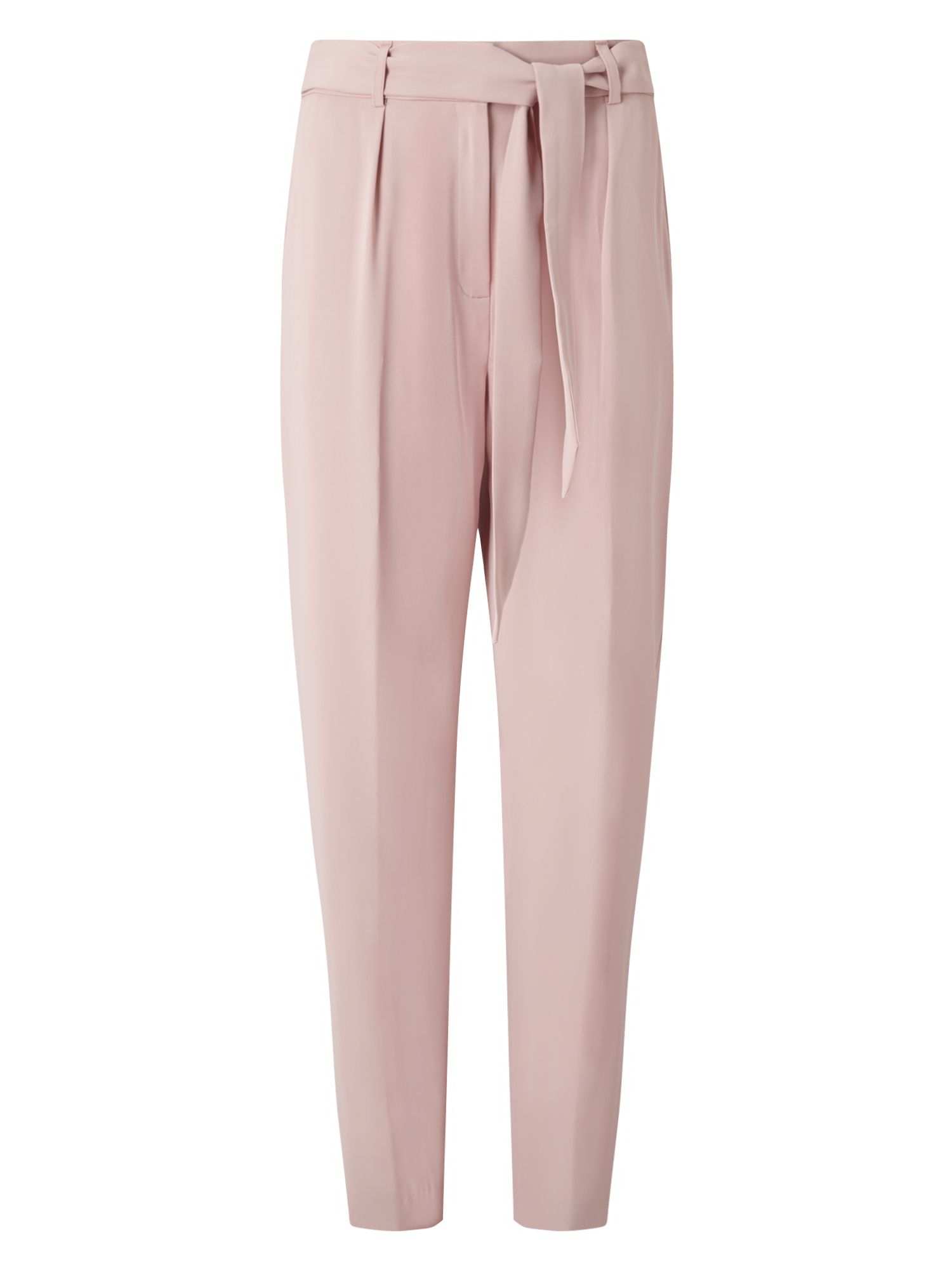 Eastex Belted Peg Leg Trousers, Pink