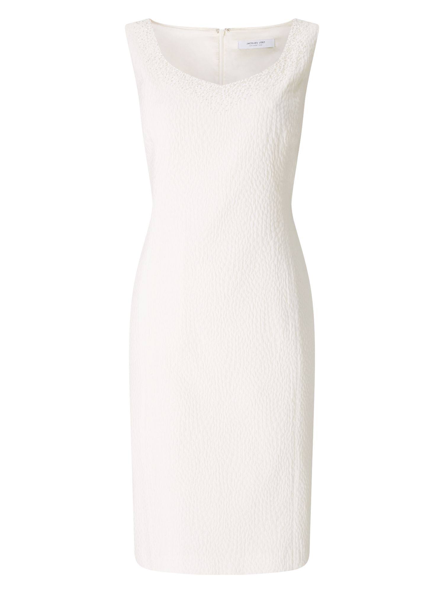 Jacques Vert Ivory Textured Dress, Neutral