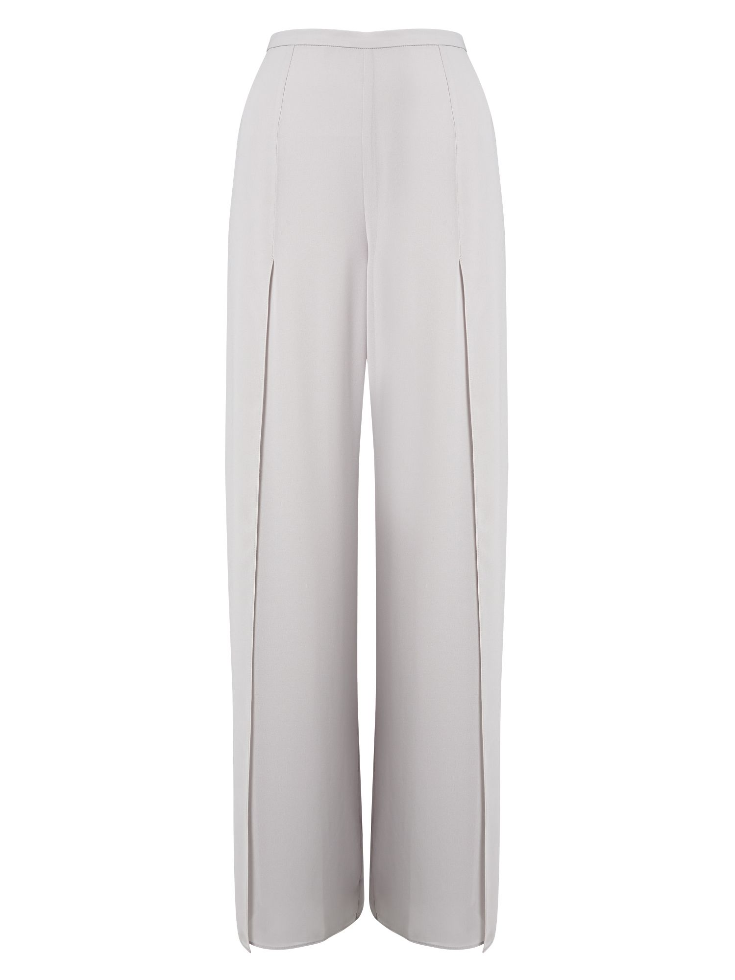 Jacques Vert Side Split Chiffon Trouser, Grey