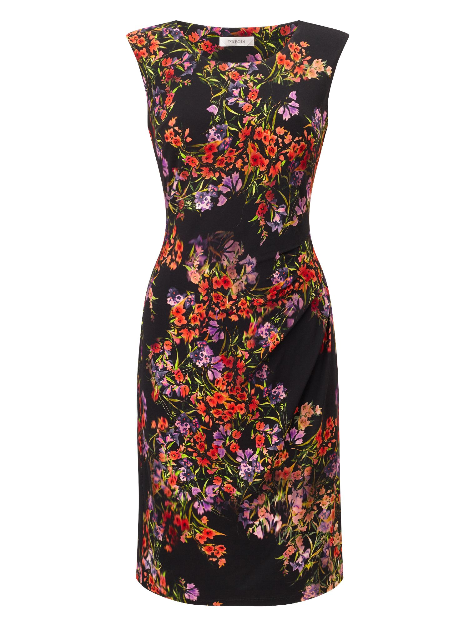 Precis Petite Petite Printed Jersey Dress, Multi-Coloured