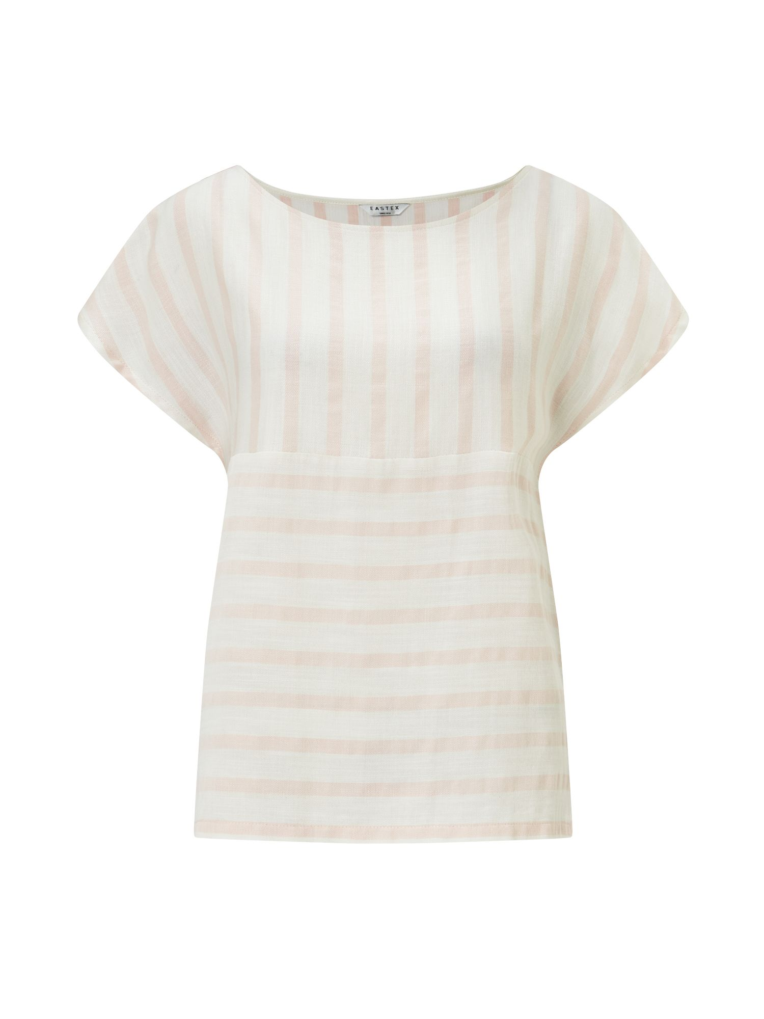 Eastex Mixed Stripe Blouse, Pink