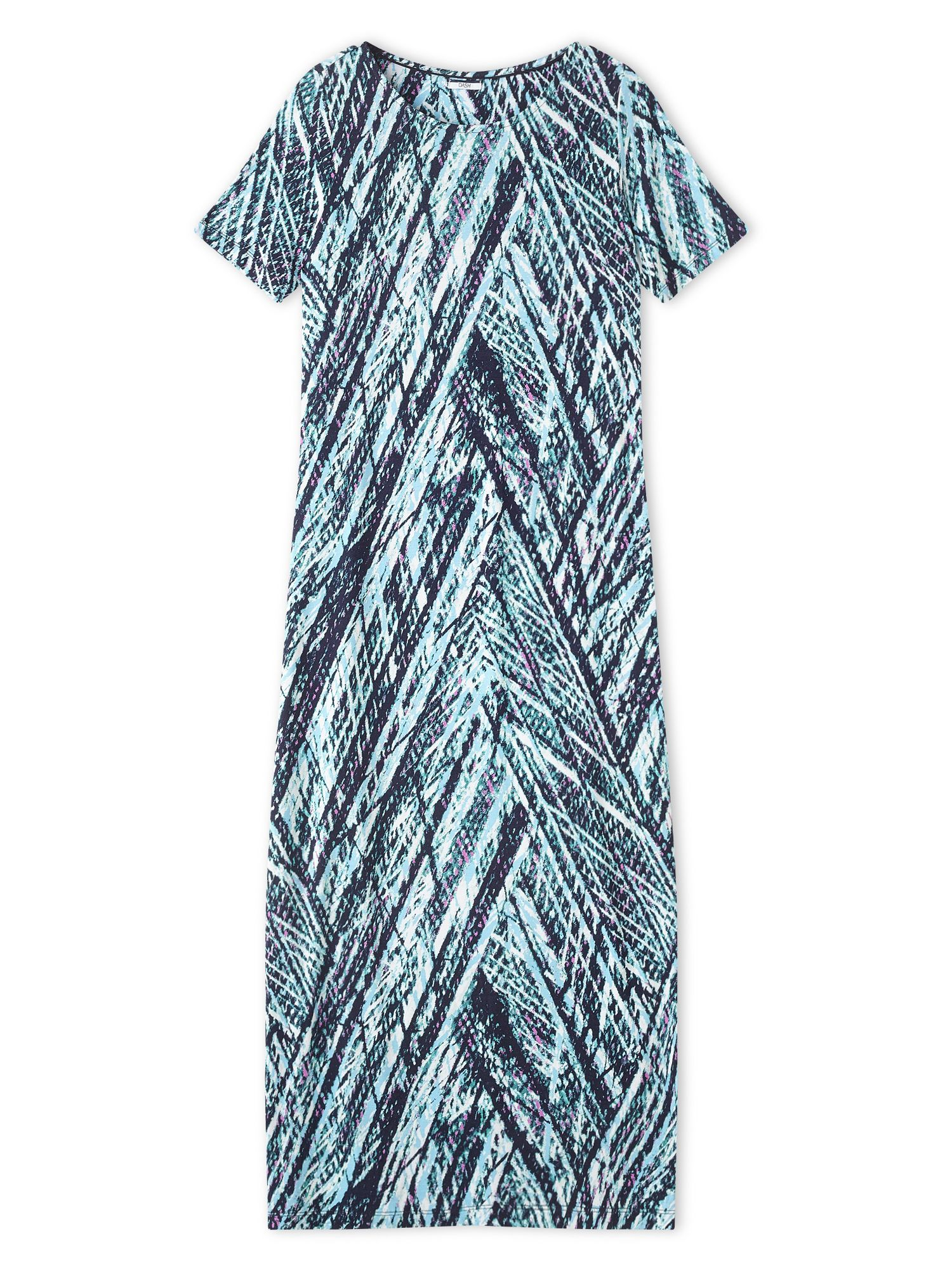 Dash Vine Print Maxi Dress, Blue