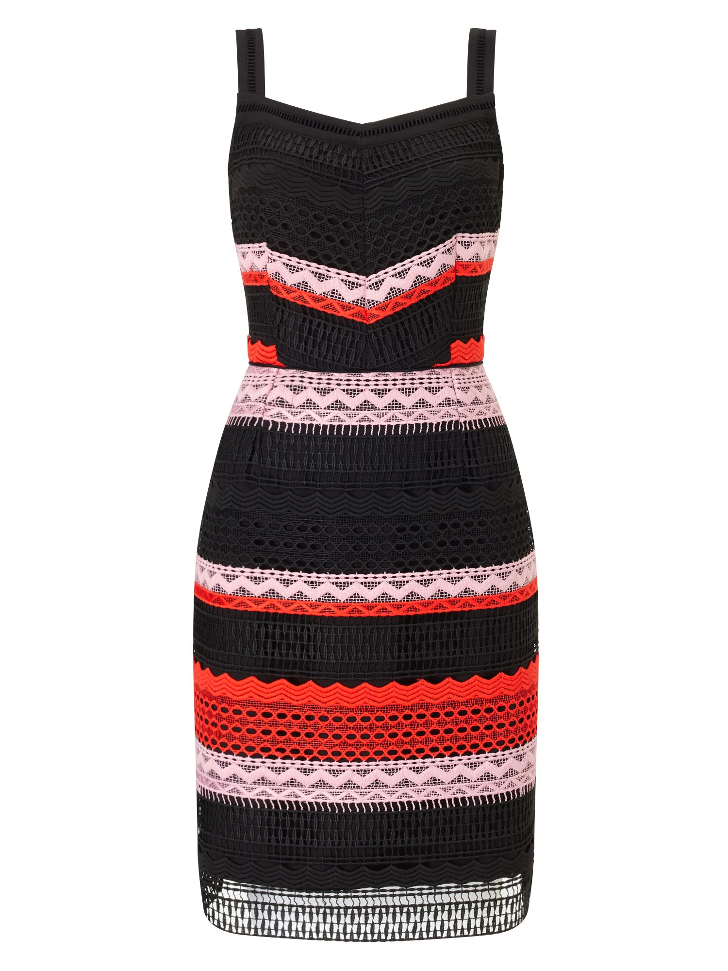 Precis Petite Petite Stripe Lace Dress, Multi-Coloured