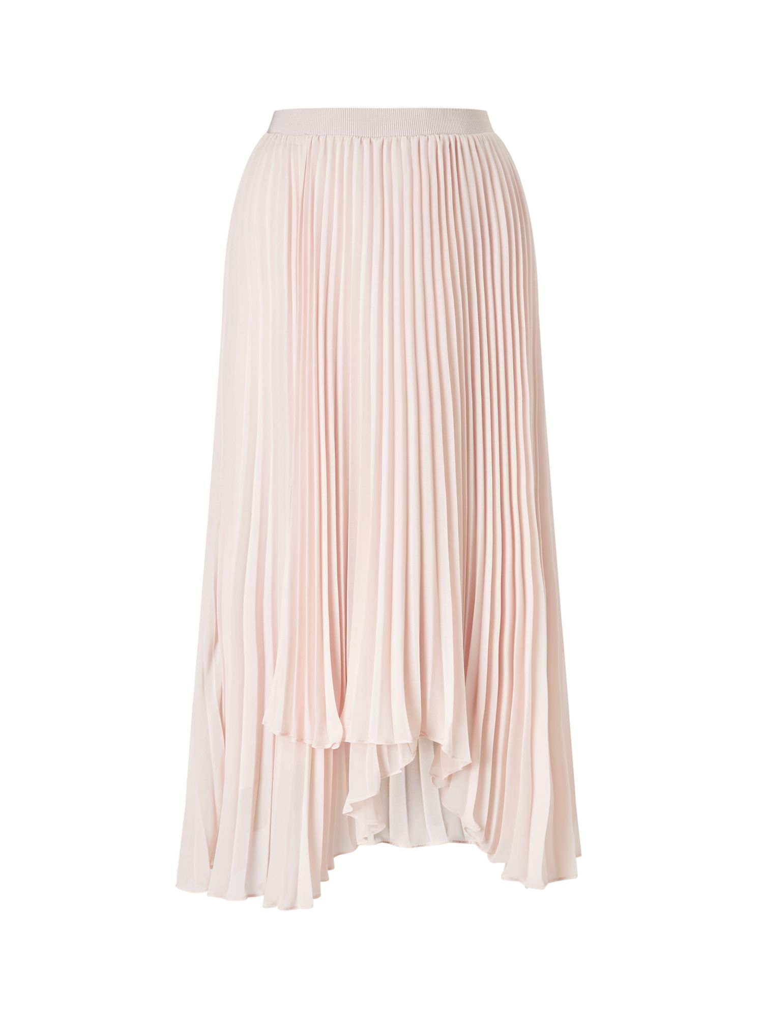Jacques Vert High Lo Plisse Skirt, Neutral