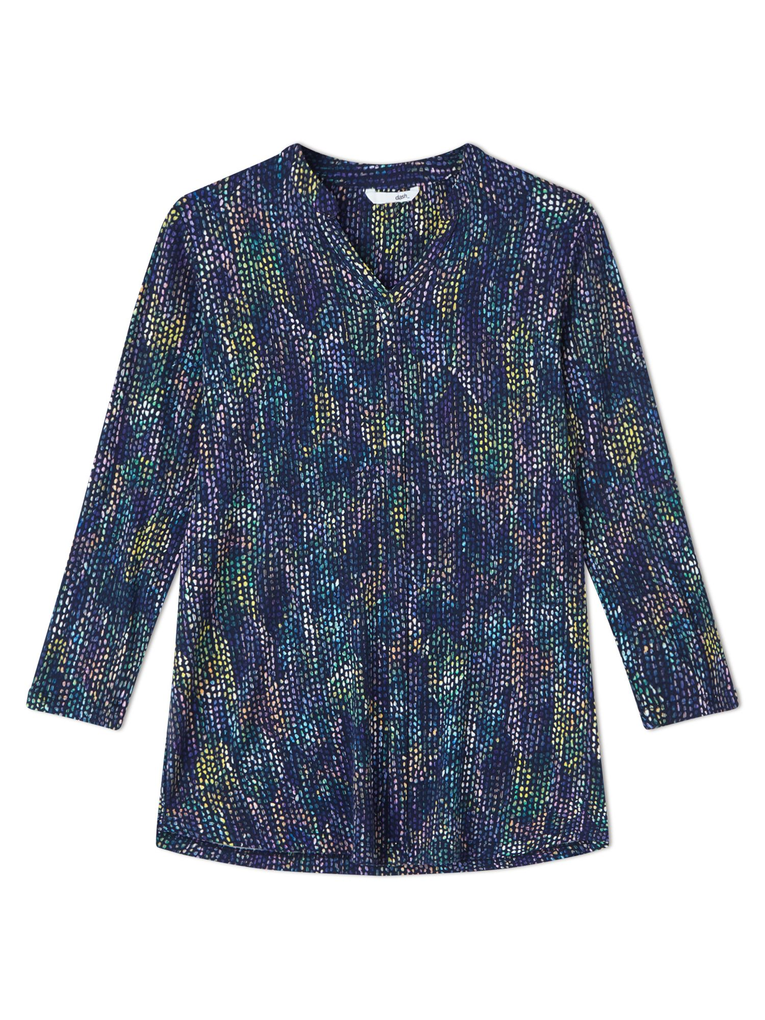 Dash Roofhut Print Top, Blue