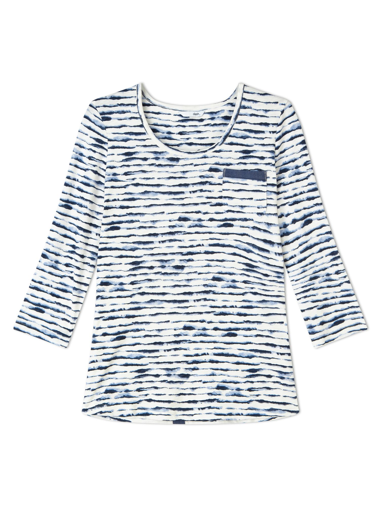 Dash Wave Stripe Jersey Top, Blue