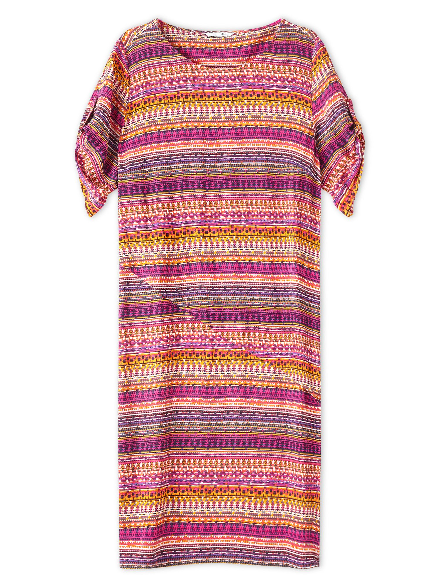 Dash Latin America Print Dress, Multi-Coloured