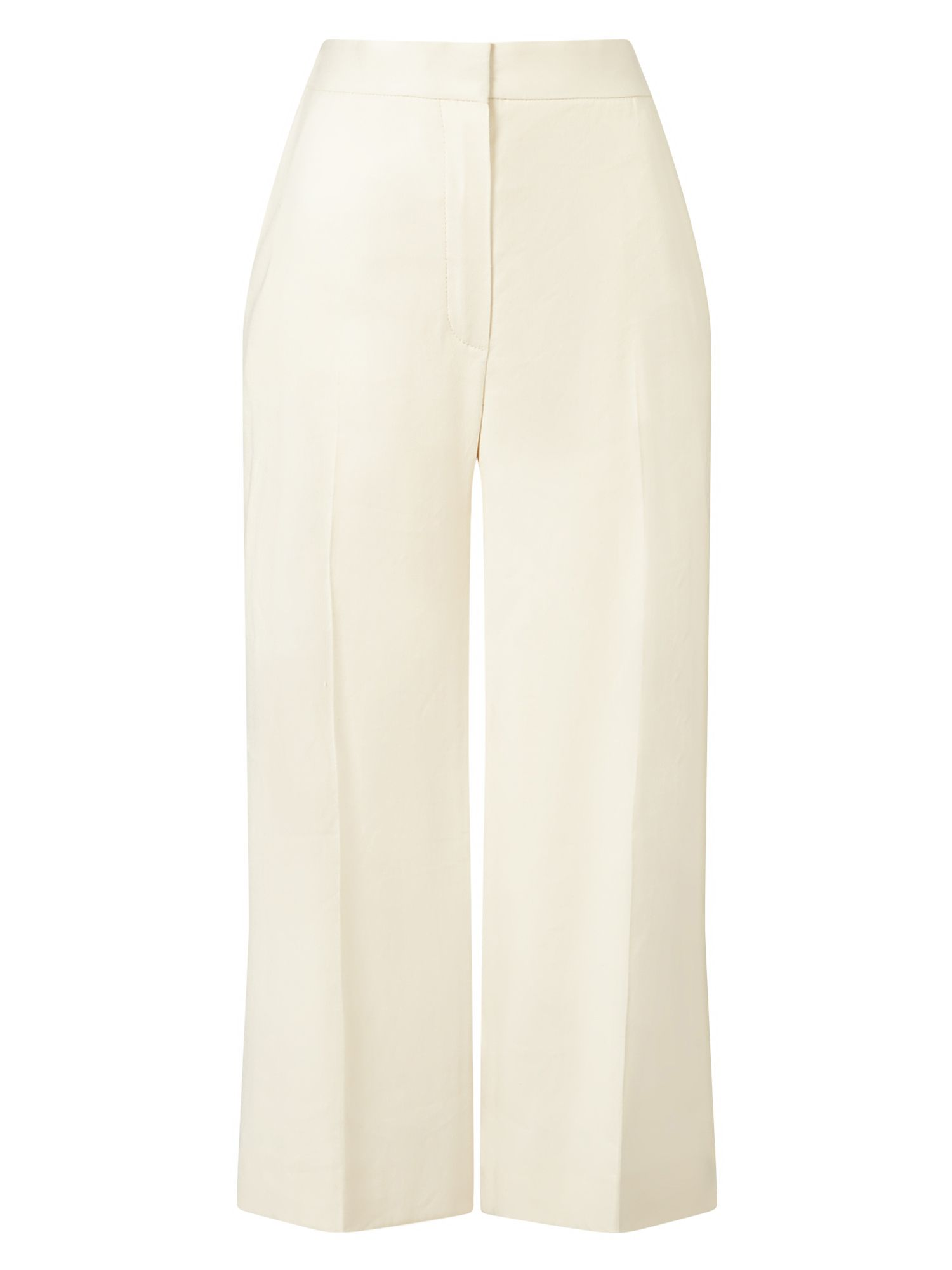 Jacques Vert Linen Embroidered Side Trouser, Neutral
