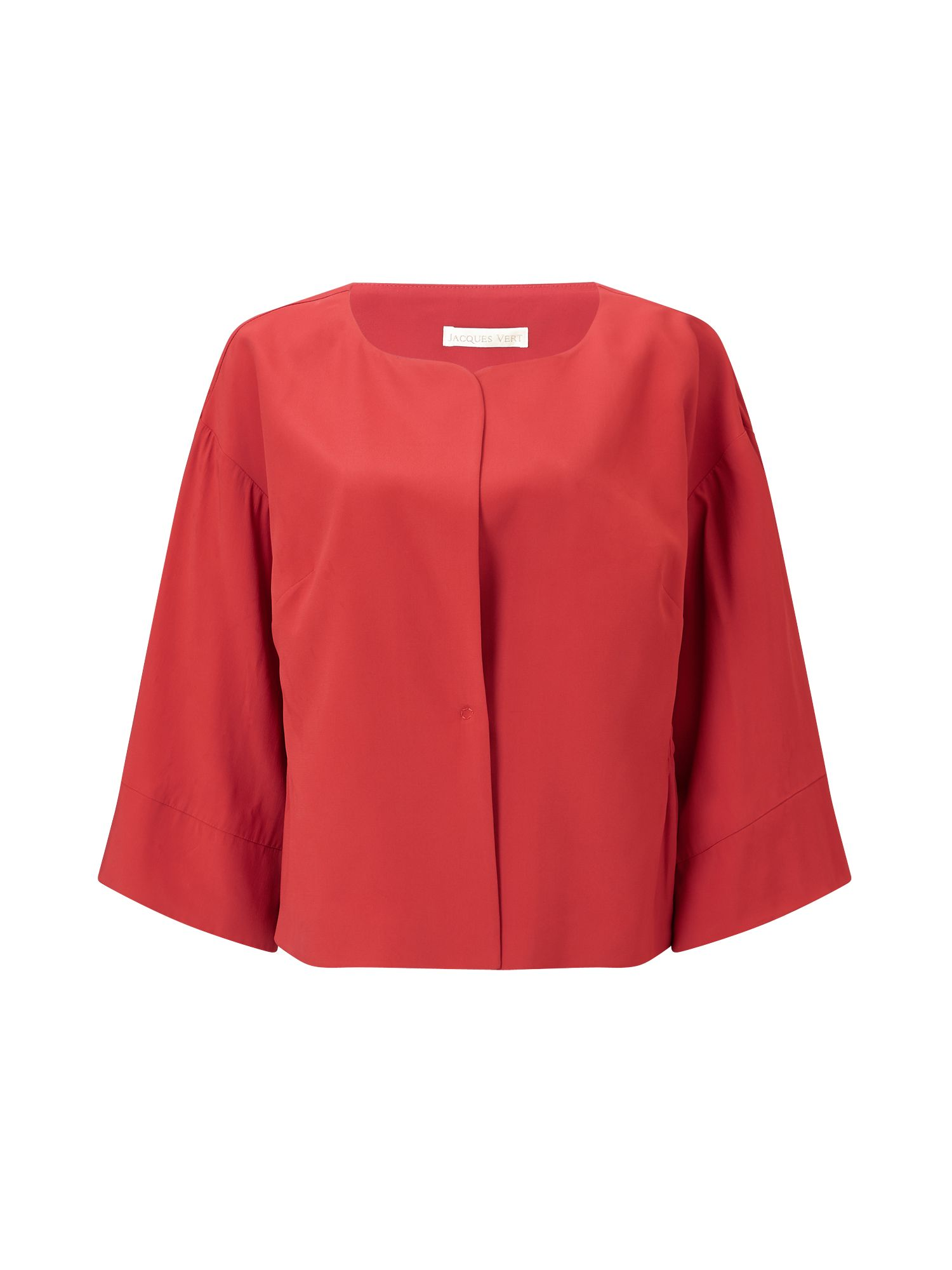 Jacques Vert Cinched Waist Kimono Jacket, Red