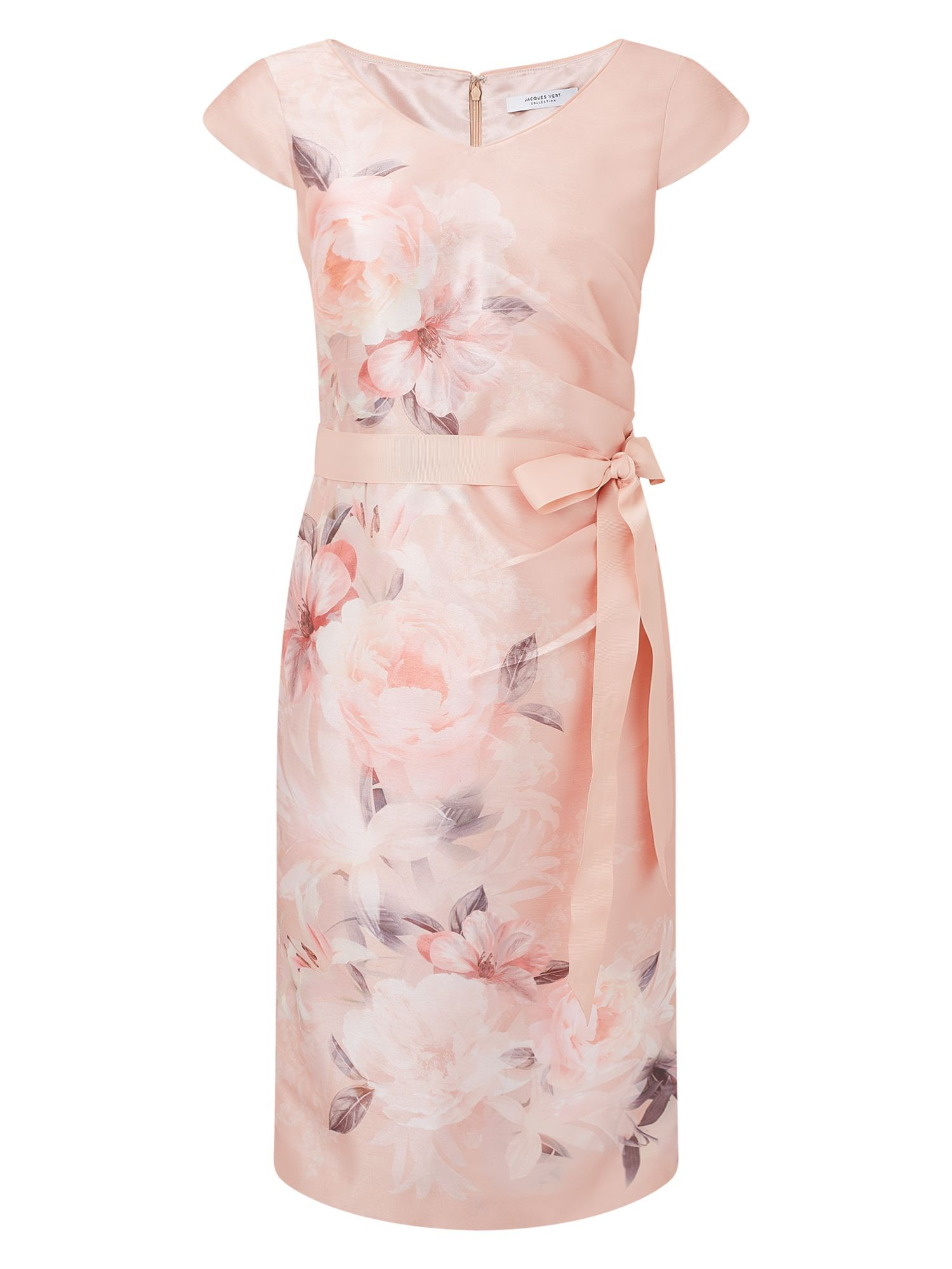 Jacques Vert Samantha Shantung Dress, Pink