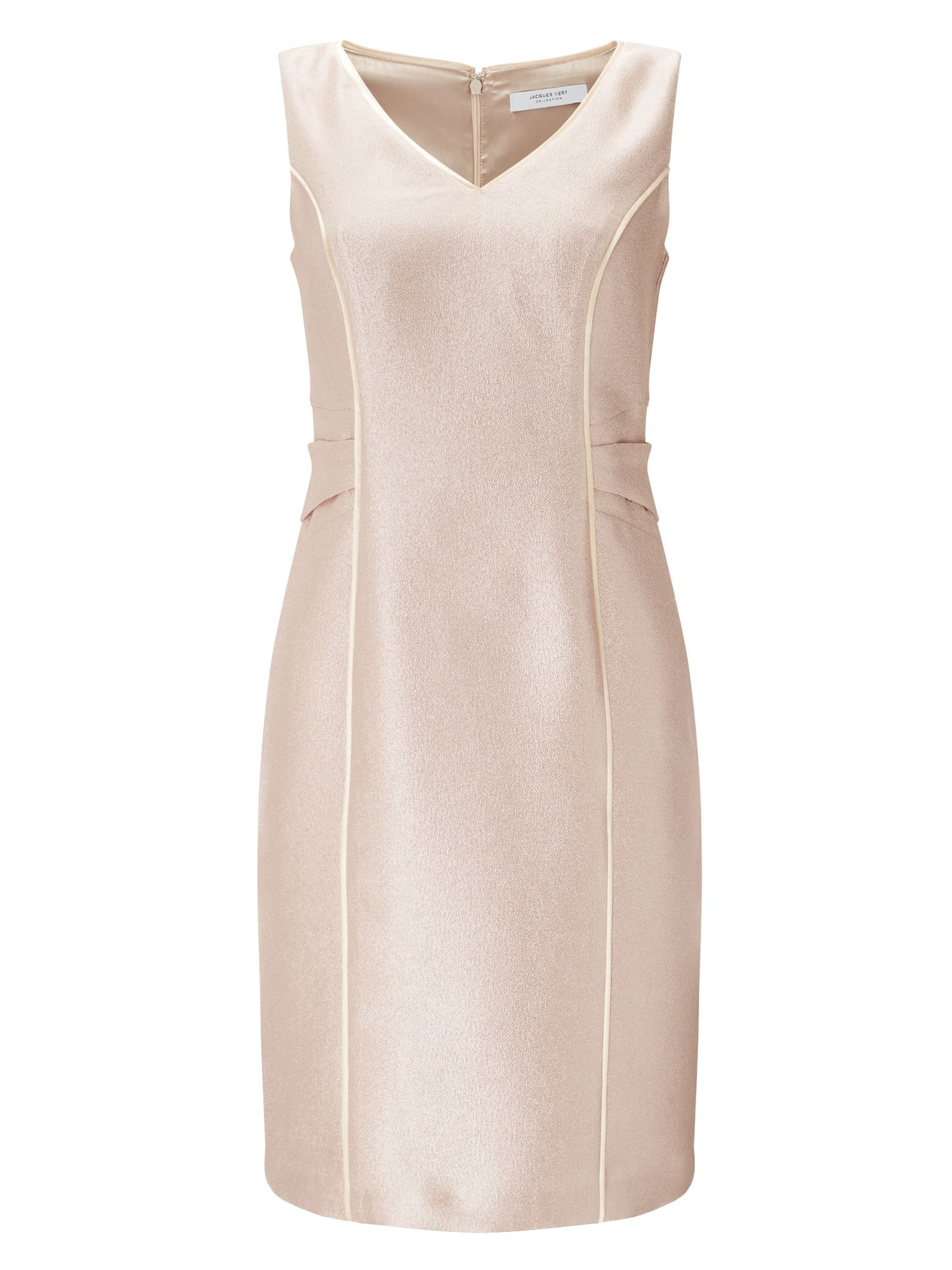 Jacques Vert Tara Textured Dress, Light Pink