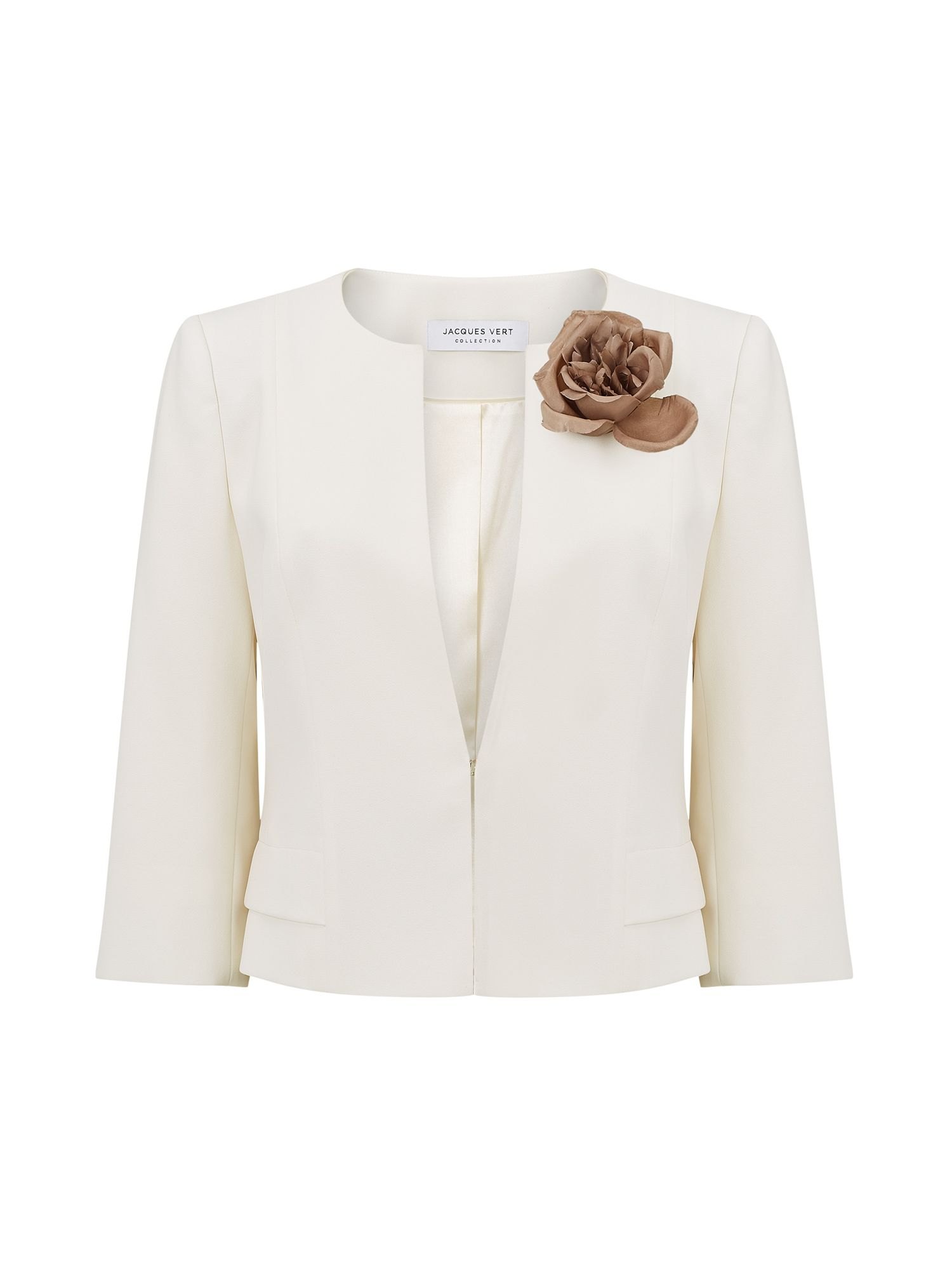 Jacques Vert Sophia Corsage Detail Jacket, Neutral