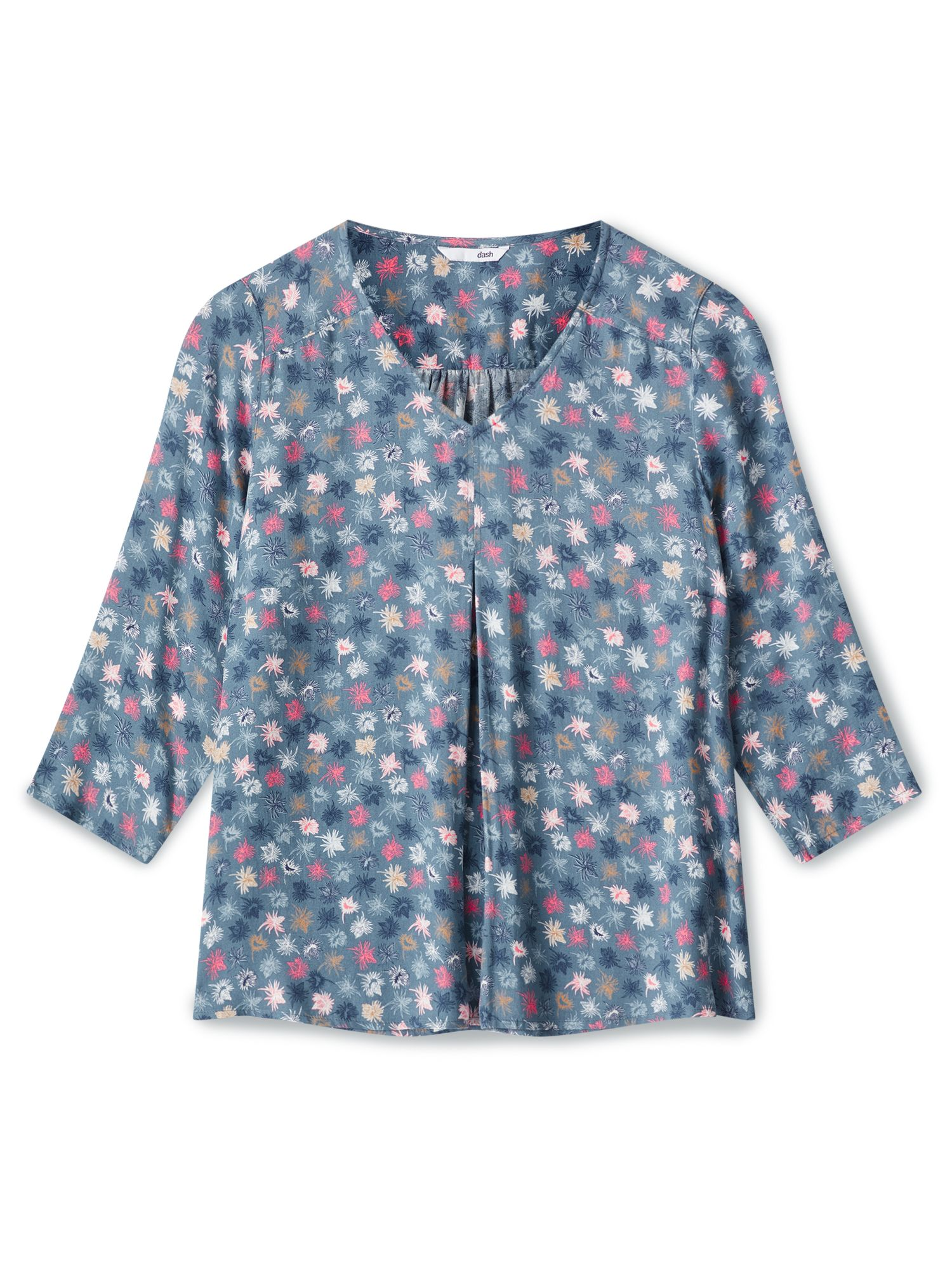 Dash Dancing Thistle Blouse, Mid Blue
