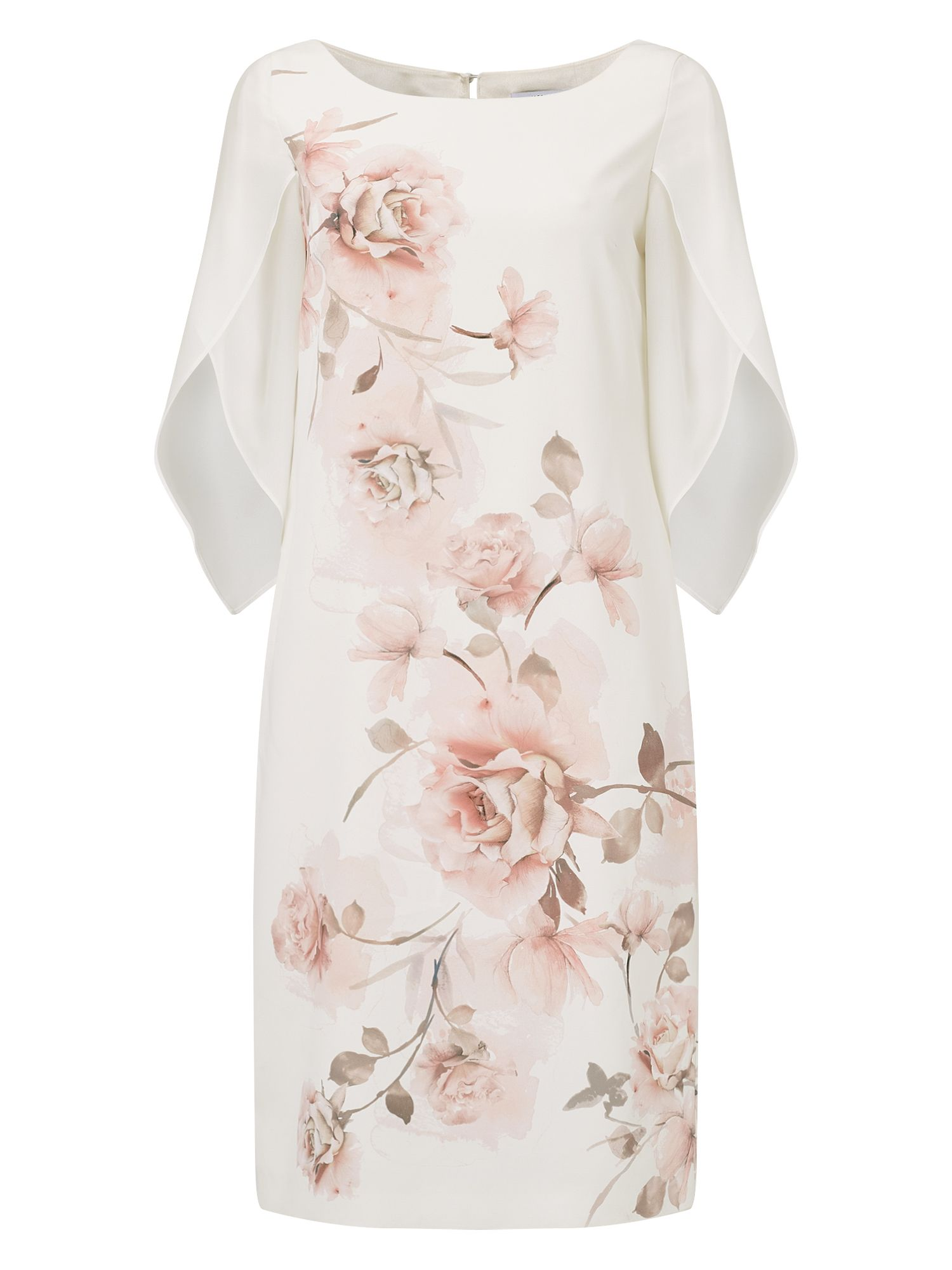 Jacques Vert Camilla Printed Dress, Light Pink
