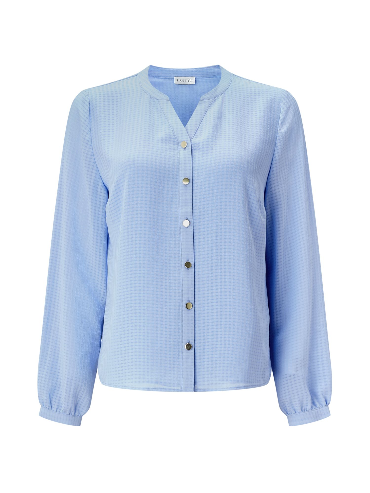 Eastex SELF CHECK BLOUSE, Light Blue