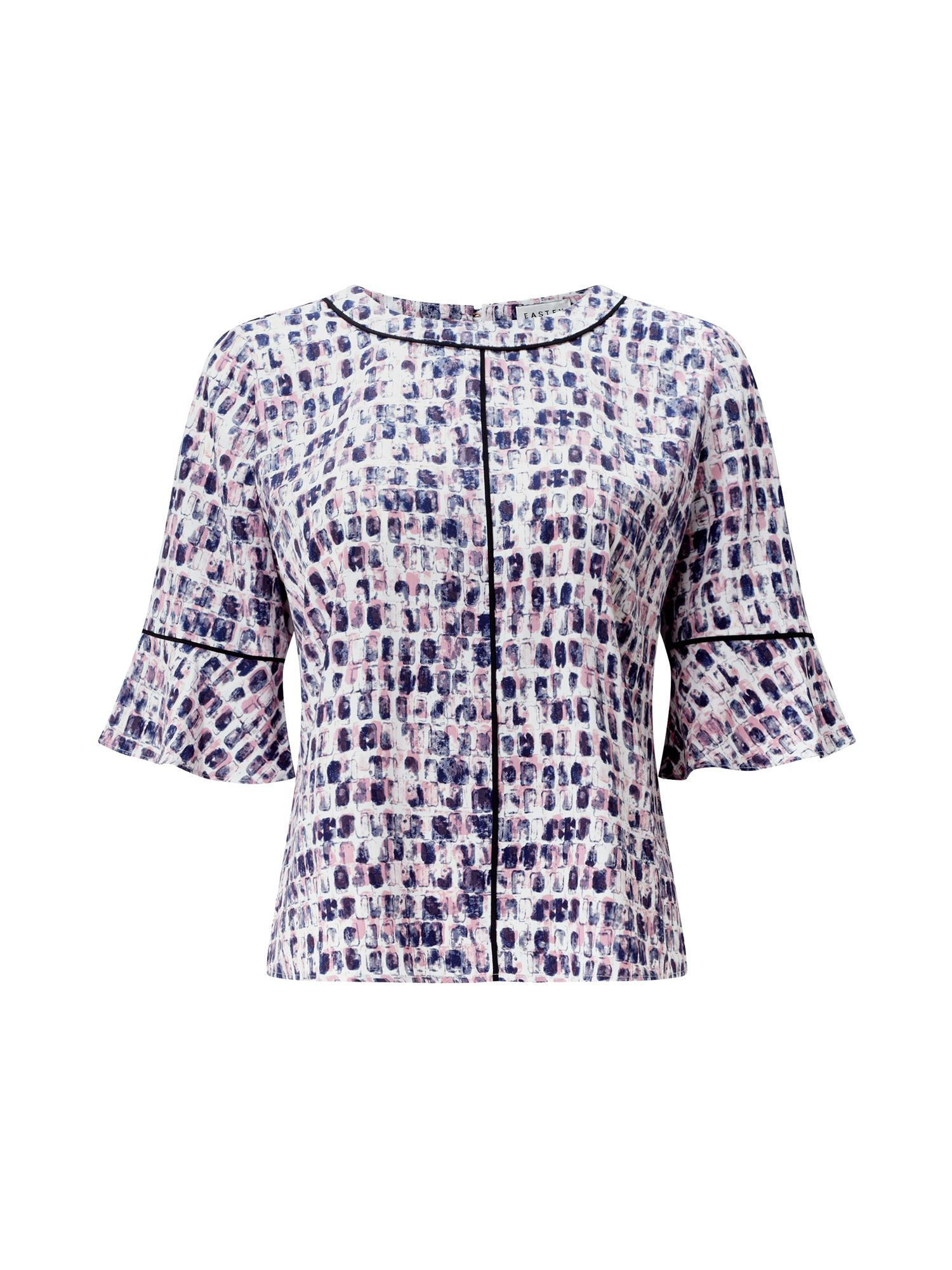 Eastex Flute Sleeved Blouse, Blue Multi