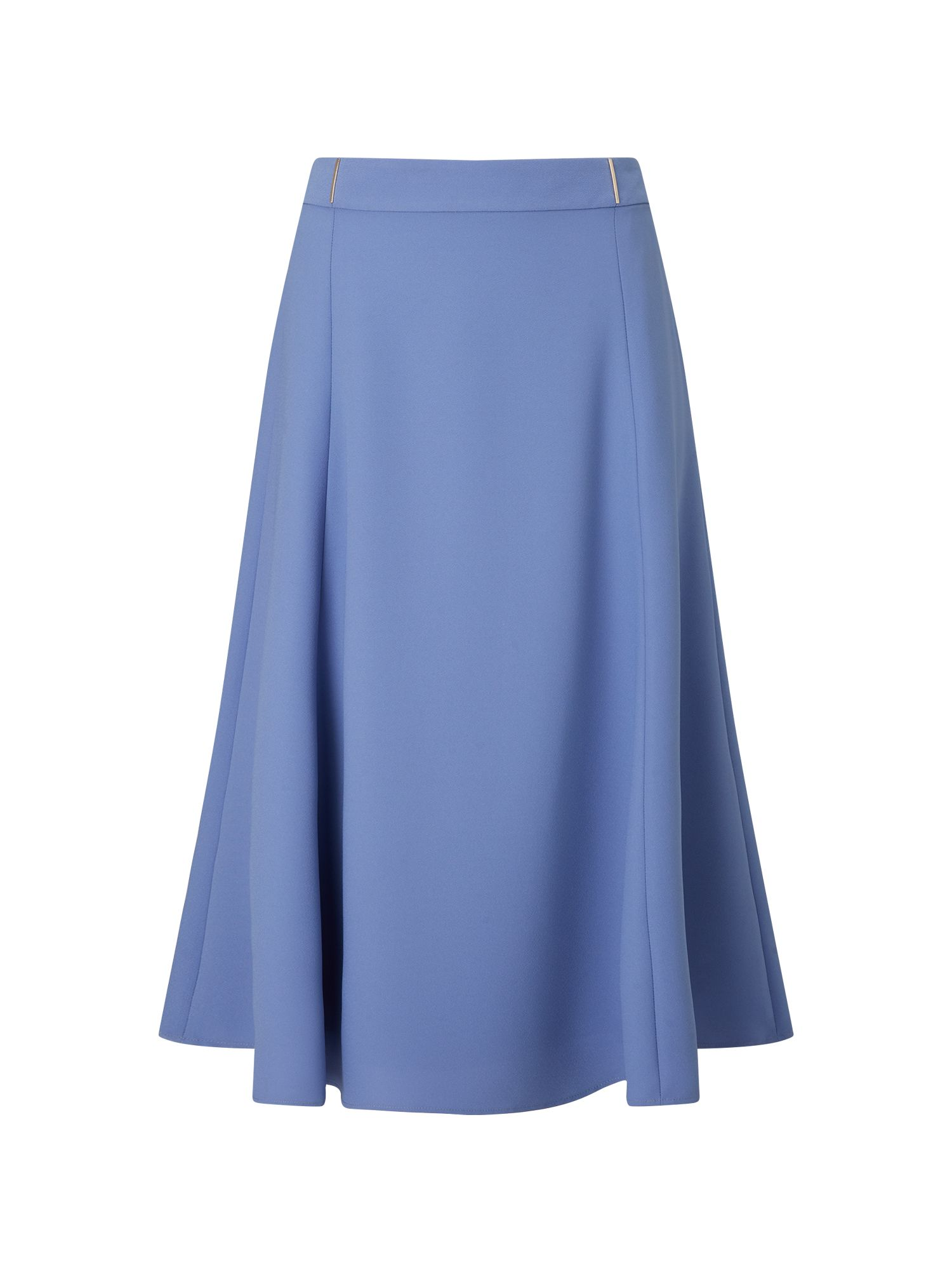 Eastex Fit And Flare Skirt, Mid Blue