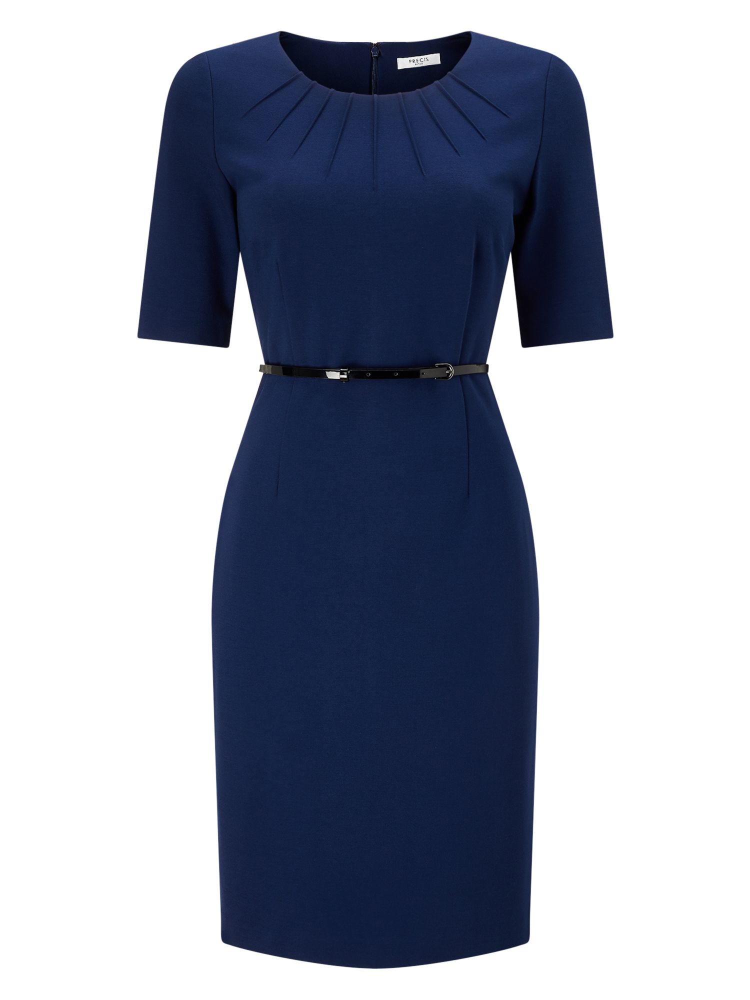 Precis Petite Petite Ponte Dress, Blue
