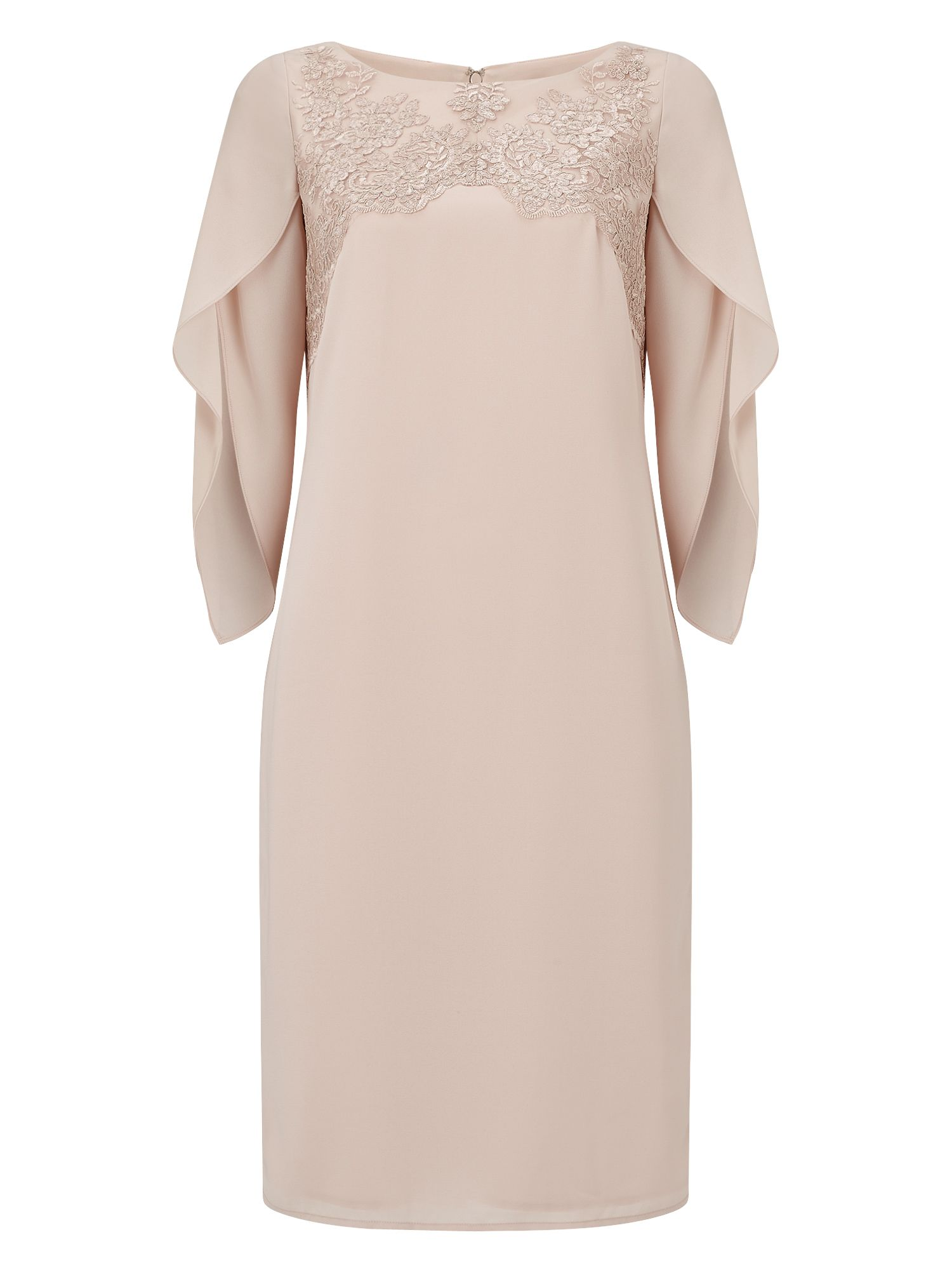 Jacques Vert Milly Lace Sheath Dress, Neutral