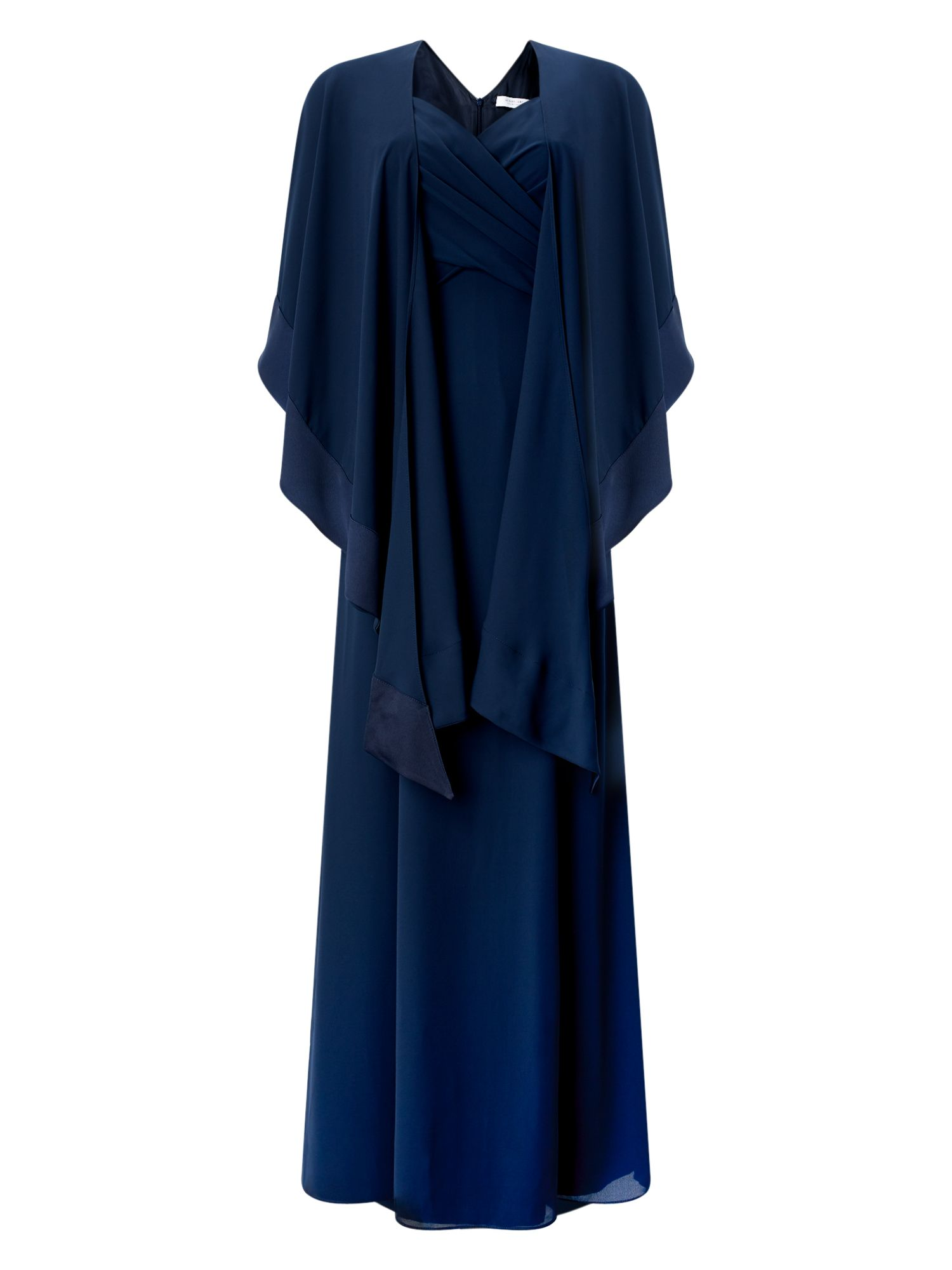Jacques Vert Chiffon Maxi Shawl Dress, Blue