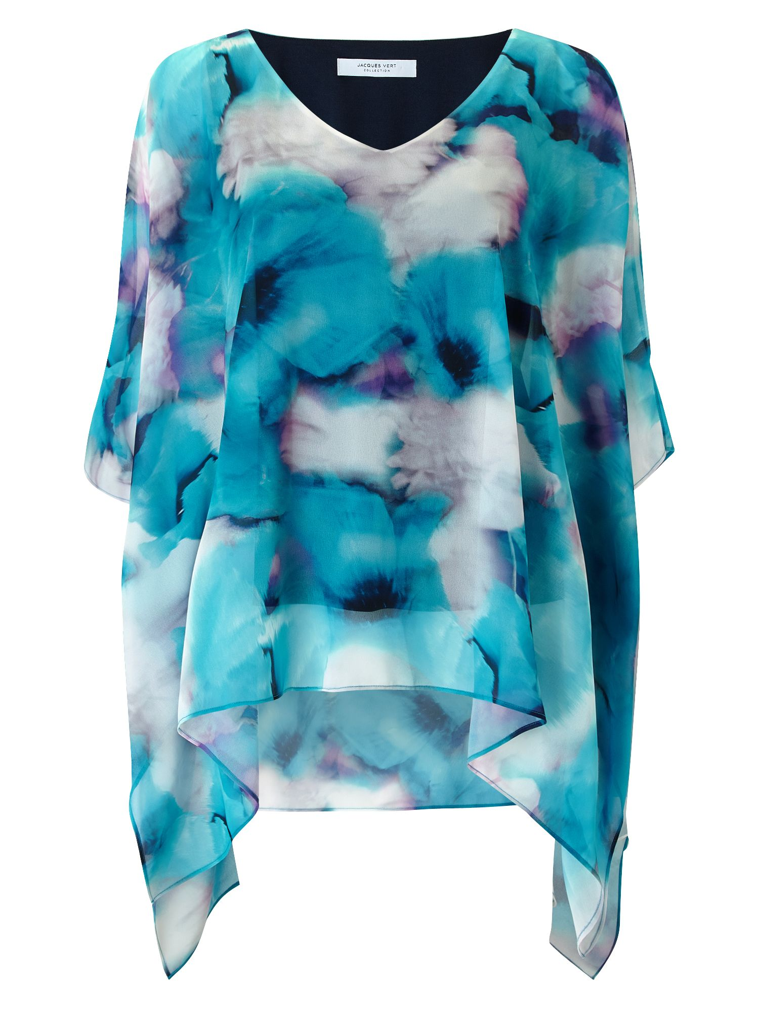 Jacques Vert Printed Cold Shoulder Tunic, Multi-Coloured